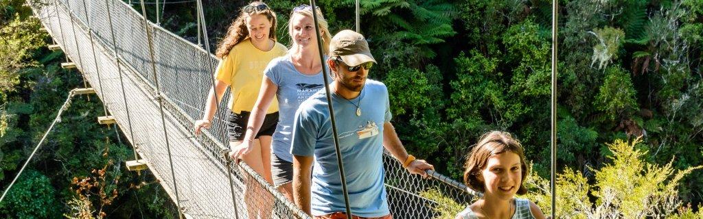 Coastal Classic- Falls River Swing Bridge - Abel Tasman Aqua Taxi