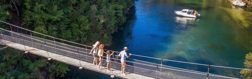 Falls River Swing Bridge - Walking & Hiking - Abel Tasman Aqua Taxi