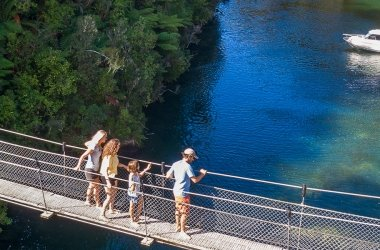 Falls River Swing Bridge - Walking & Hiking - Abel Tasman Aqua Taxi