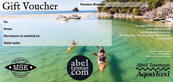 Gift Vouchers | Shop online at AquaTaxi